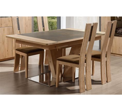 table pied central carr 233 ou rectangulaire en ch 234 ne et c 233 ramique quot forest quot 4920