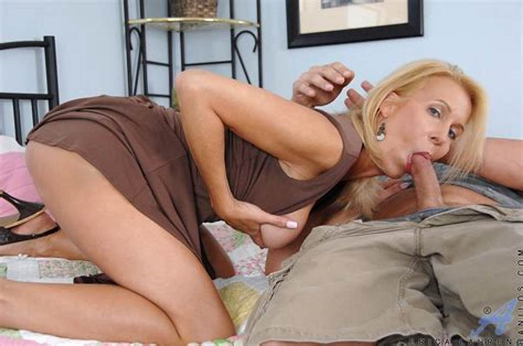 #Blonde #Lady #Is #Soaked #In #Sperm