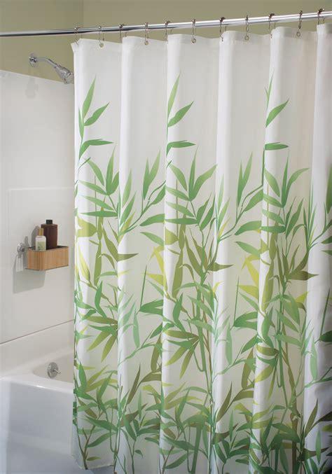 bamboo shower curtain green bamboo shower curtain interdesign in 36524