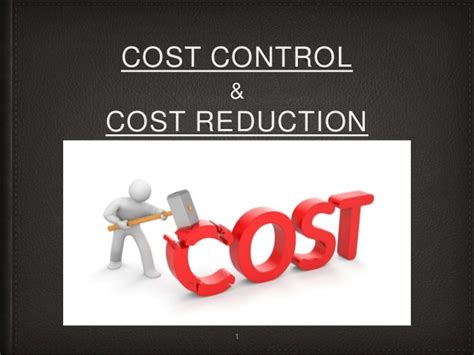 cost control cost reduction management accounting