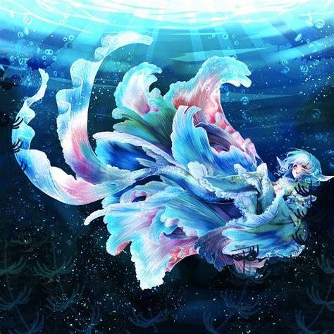 Anime Water Wallpaper - anime anime touhou wakasagihime water hd