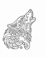 Wolf Coloring Pages Tribal Realistic Hard Printable Getcolorings sketch template