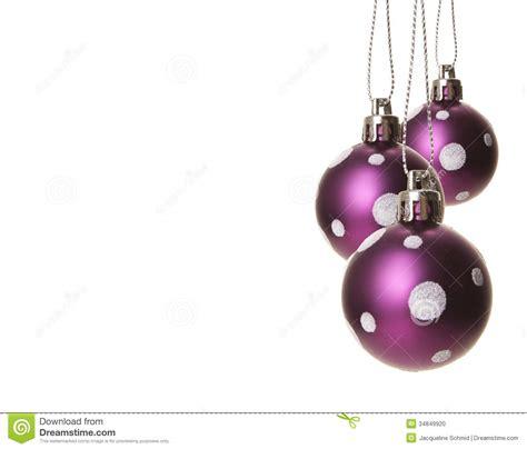 christmas baubles purple stock photo image 34849920