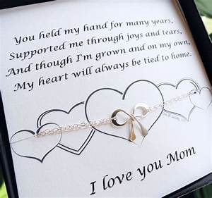 gifts for mom mother of the bride gift silver bow With wedding gifts for mom