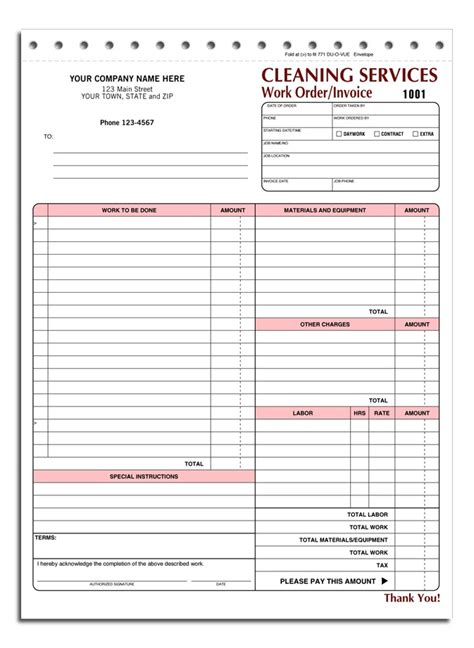 images  printable house cleaning invoice house