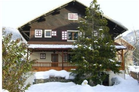ski chalet in le grand bornand 5 bedrooms log childcare available airport transfers