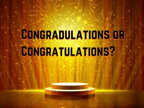 congradulations  congratulations