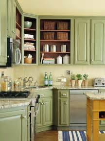 green kitchen ideas beautifully colorful painted kitchen cabinets