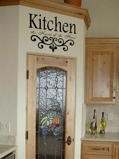 Decor Vinyl by Kitchen Wall Quote Vinyl Decal Lettering Decor Sticky Ebay