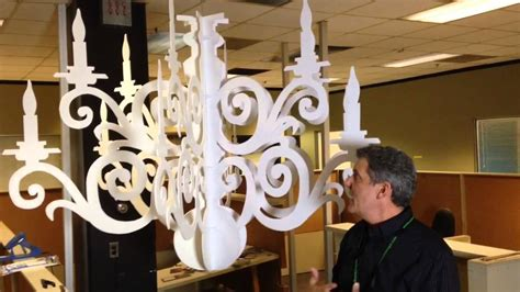 making paper chandeliers youtube
