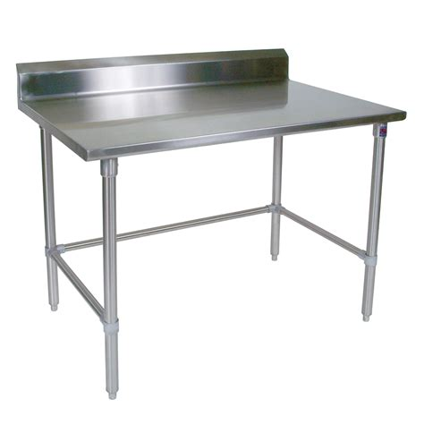 kitchen work tables islands stainless steel work table 16ga 5 quot riser stainless