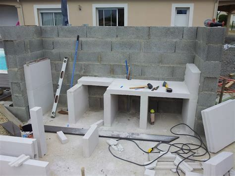 construction cuisine cuisine construction d 39 un barbecue sur mesure terrasse