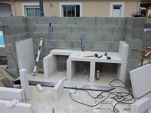 cuisine construire une cuisine en beton cellulaire With plan de travail exterieur
