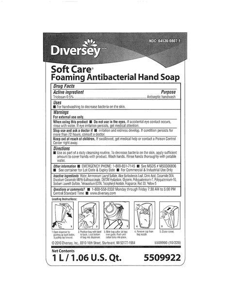 Soft Care Foaming Antibacterial Hand (Diversey, Inc