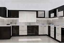 Moduler Kitchen Design by Modular Kitchen In Black And White Theme Good Home Advisor