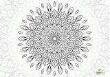 Complex Coloring Mandala Flower Pages Printable Clipart Queen Template sketch template
