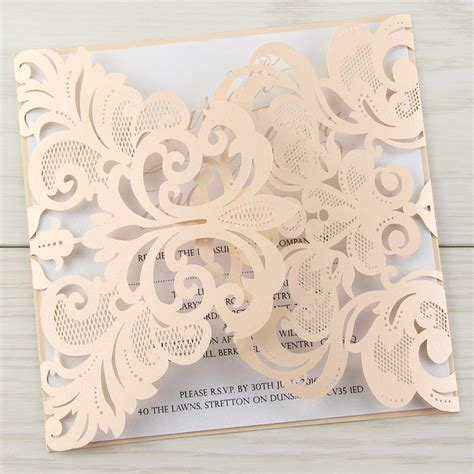 laser cut wedding invitations diy laser cut wedding invitations invitation librarry
