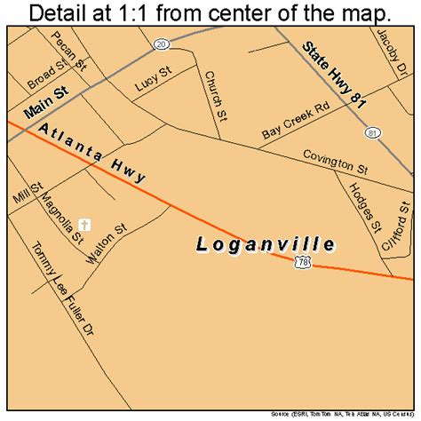 The easy, trusted way to buy insurance in loganville, ga. Loganville Georgia Street Map 1347196