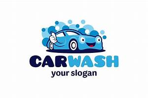 car wash logo logo templates creative market With car wash fonts