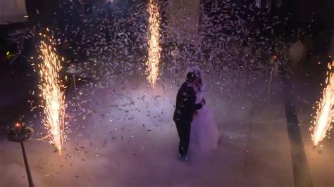 bodennebel feuerwerk konfetti hochzeitstanz tk