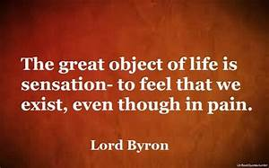 The great objec... Lord Byron Sleep Quotes