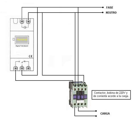 circuito timer contactor circuito de contactor con timer