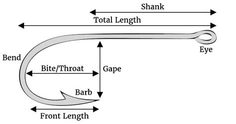 guide  fishing hook sizes  types badangling