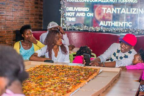 pizza hut zambia sets zambias largest pizza record
