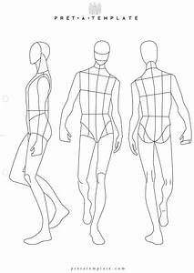 Man male body figure fashion template (D-I-Y your own ...