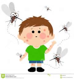Cartoon Mosquito Biting a Person