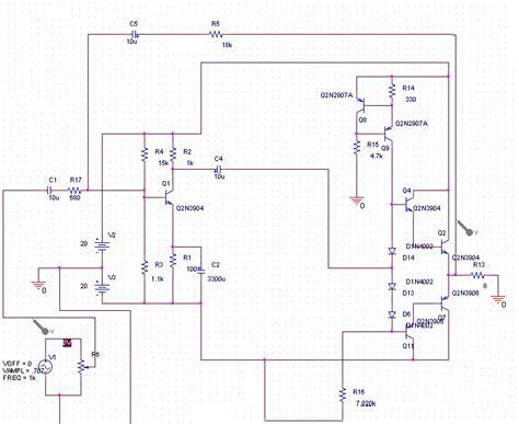 15 watt amplifier electronic circuit diagram
