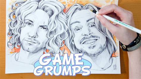 Speed Drawing YouTubers GAME GRUMPS YouTube