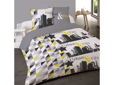 Housse Couette 220x240 + 2 Taies City