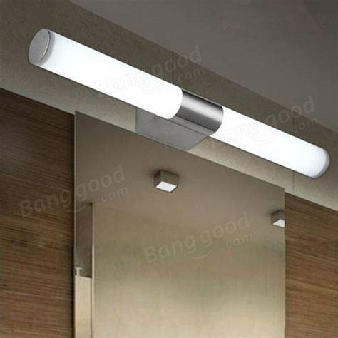 10w brief stainless steel led wall light bathroom