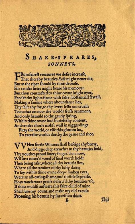 The Sonnets, Quarto 1 (chalmersbridgewater (aspley