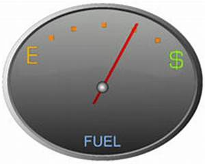 Dollar Sign Gas Tank Almost Empty Stock Image - Image ...