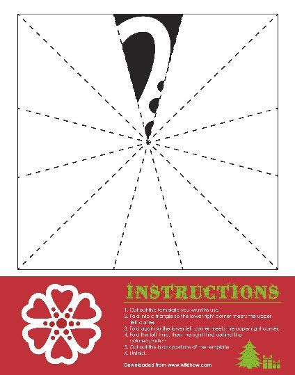 printable heart snowflake template snowflakes templates