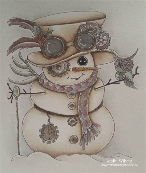 img steampunk snowman besties digi stamp