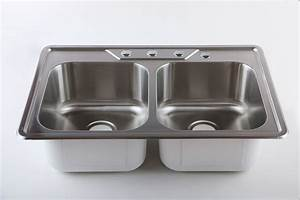 Afa Stainless Double Bowl 33 U0026quot  Dual Mount Kitchen Sink