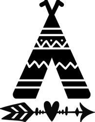 teepee  arrow tribal sticker