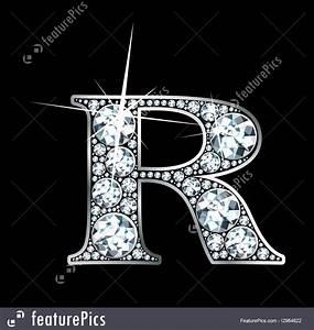 "Diamond Letter ""R"" Illustration"