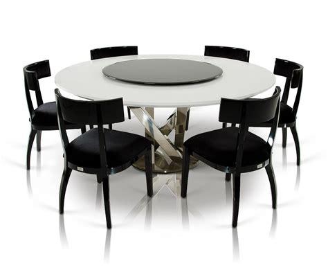 Moderner Runder Esstisch by A X Spiral Modern White Dining Table With Lazy Susan