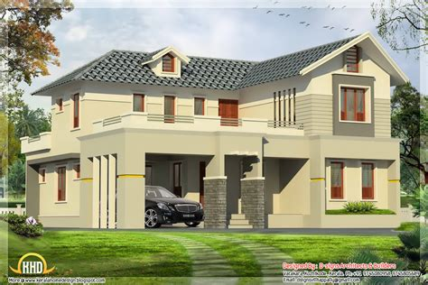 4 bedroom India house plan - 2800 sq.ft.