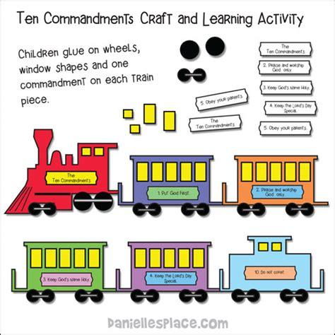 ten commandments crafts and for sunday school and 10 | ten commandment train pic