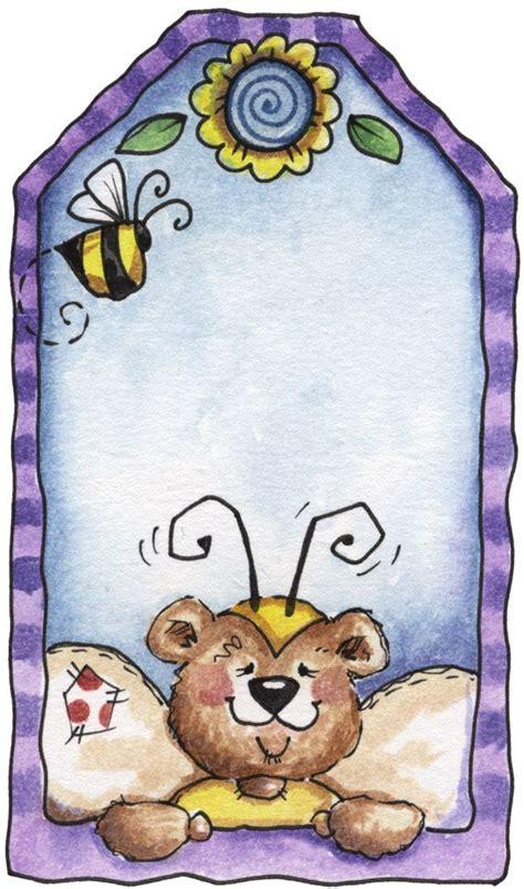 lf bumble bear tag art card tags clip art