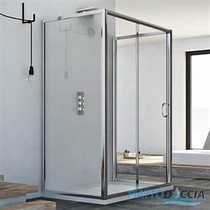 Cabine De Douche En Verre : cabine de douche 3 parois en verre porte unique ~ Zukunftsfamilie.com Idées de Décoration