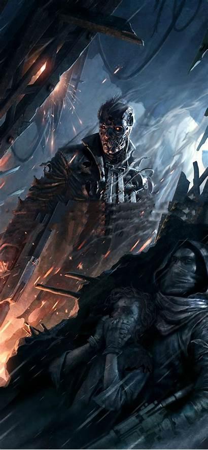 Iphone Terminator Wallpapers Resistance Games Gaming 4k