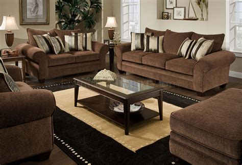 Loveseat And Chair Set by Chocolate Fabric Casual Modern Loveseat Sofa Set W Options