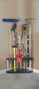 garden tool rack stand mop broom garage storage