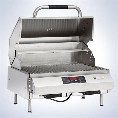 table with grill built in emerald 24 quot tabletop grill electrichef